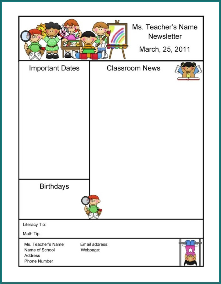 School Newsletter Templates Free For Microsoft Word