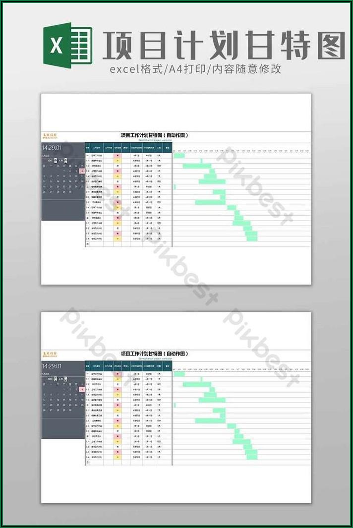 Simple Gantt Chart Template Excel Download
