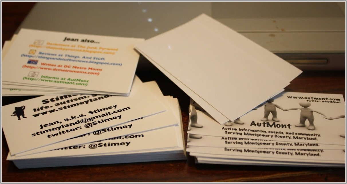Staples Business Cards Size