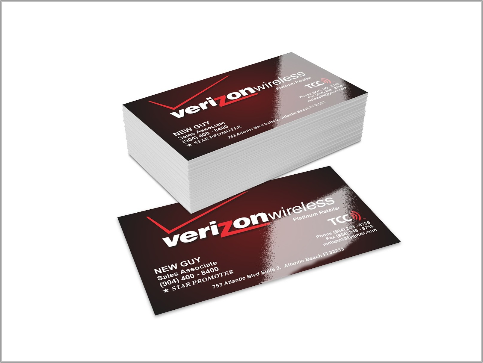 Staples Glossy Business Cards