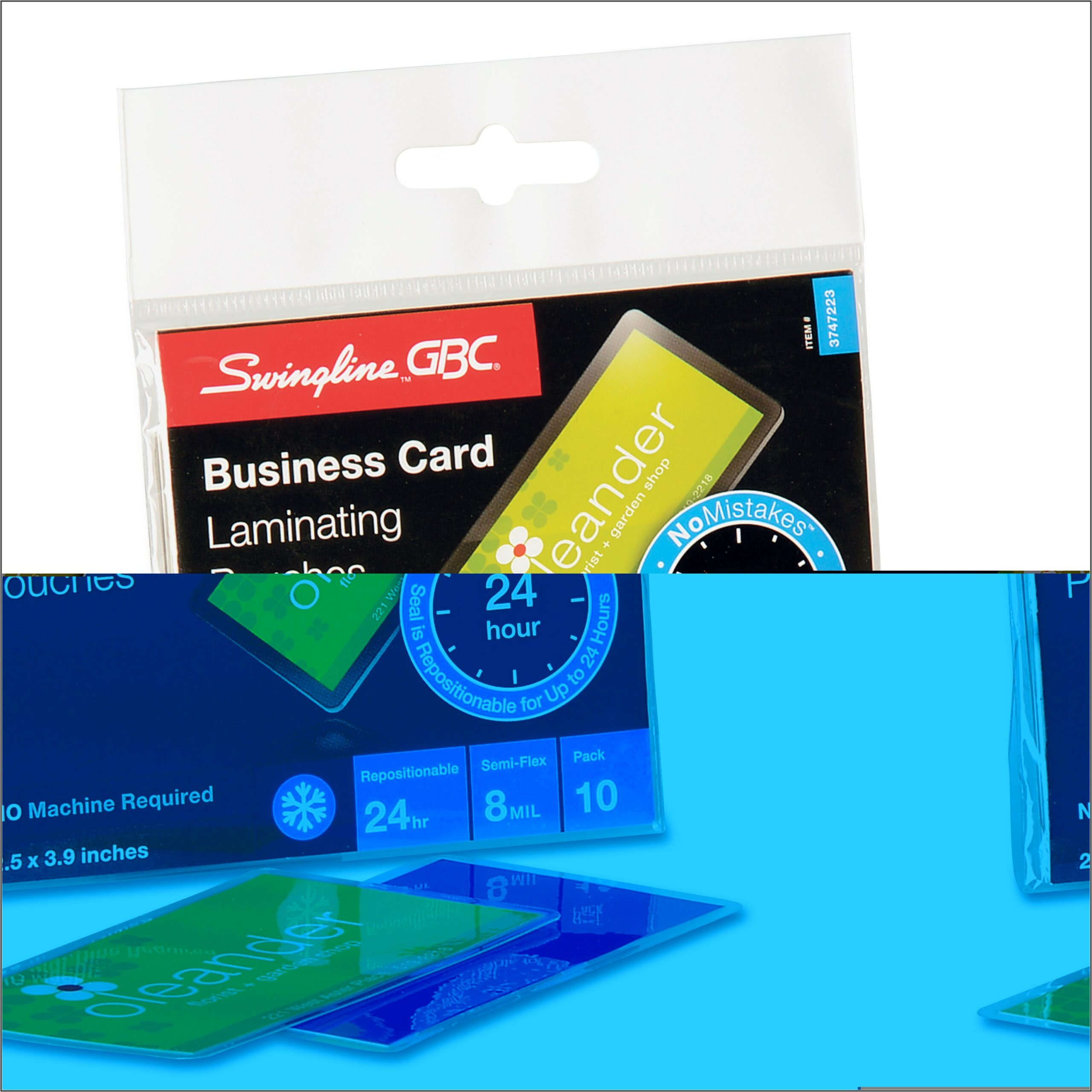 Staples Laminating Pouches Business Card Size