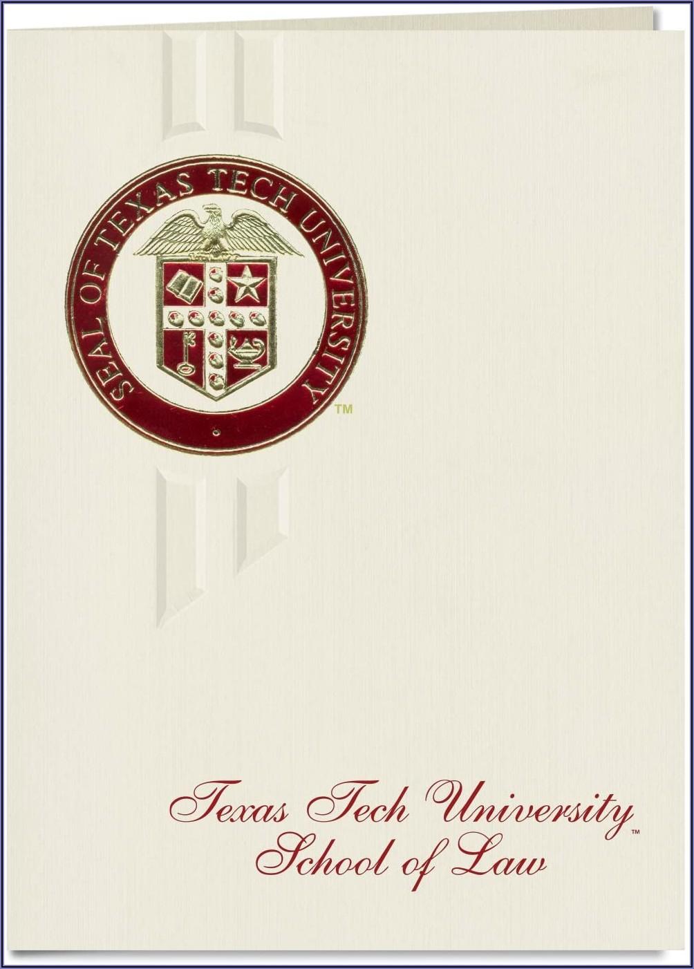 Texas Tech Graduation Announcements