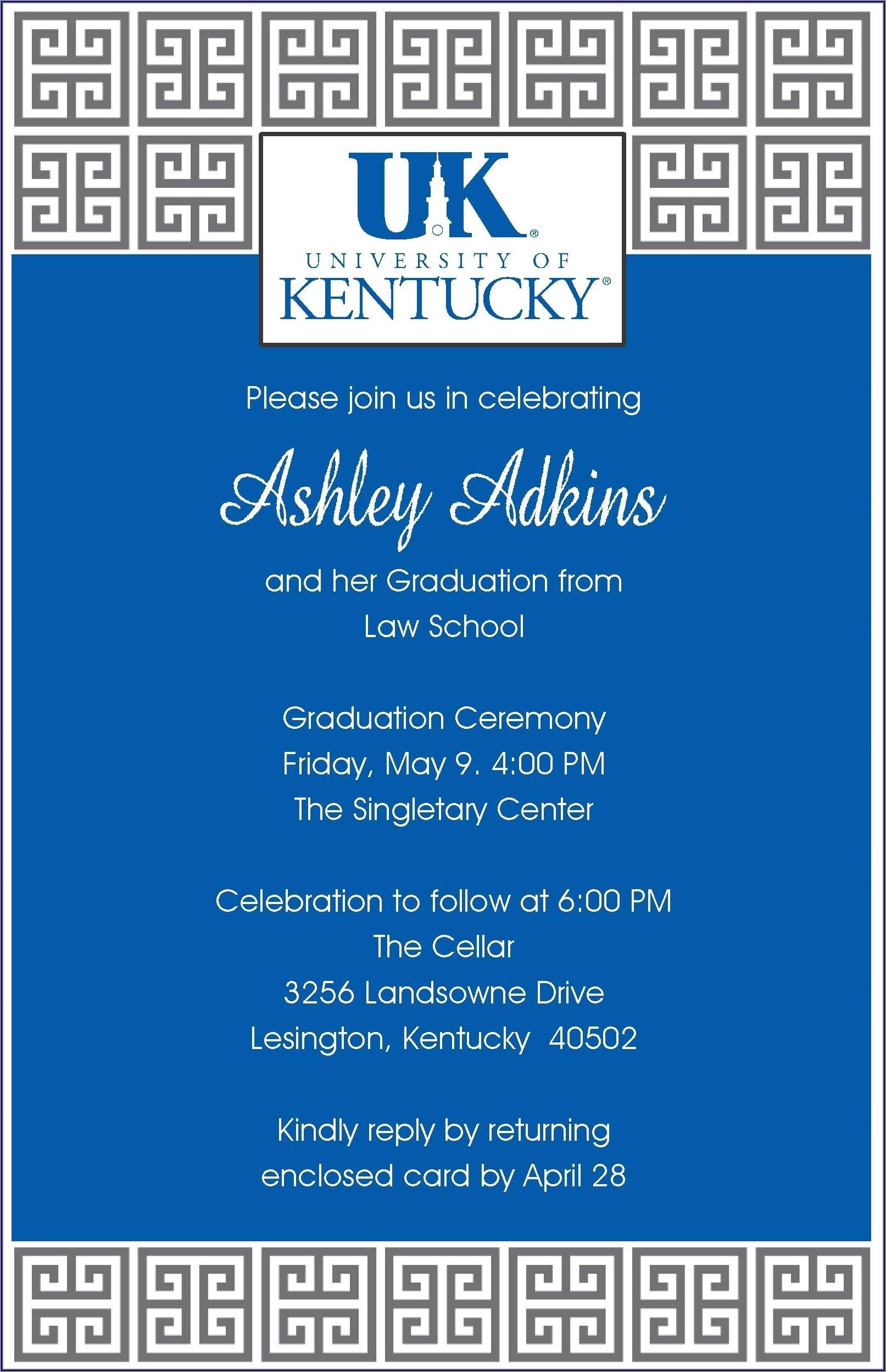 University Of Kentucky Graduation Announcements