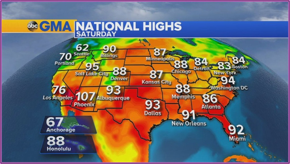 Us Weather Radar Map Tomorrow