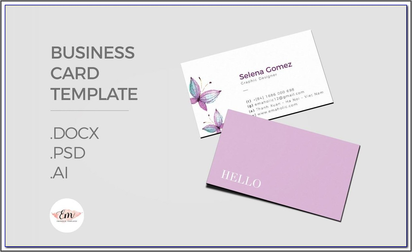 Vistaprint Business Card Template Illustrator