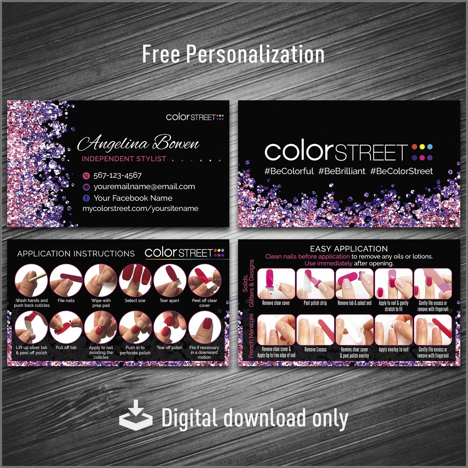 Vistaprint Color Street Business Cards