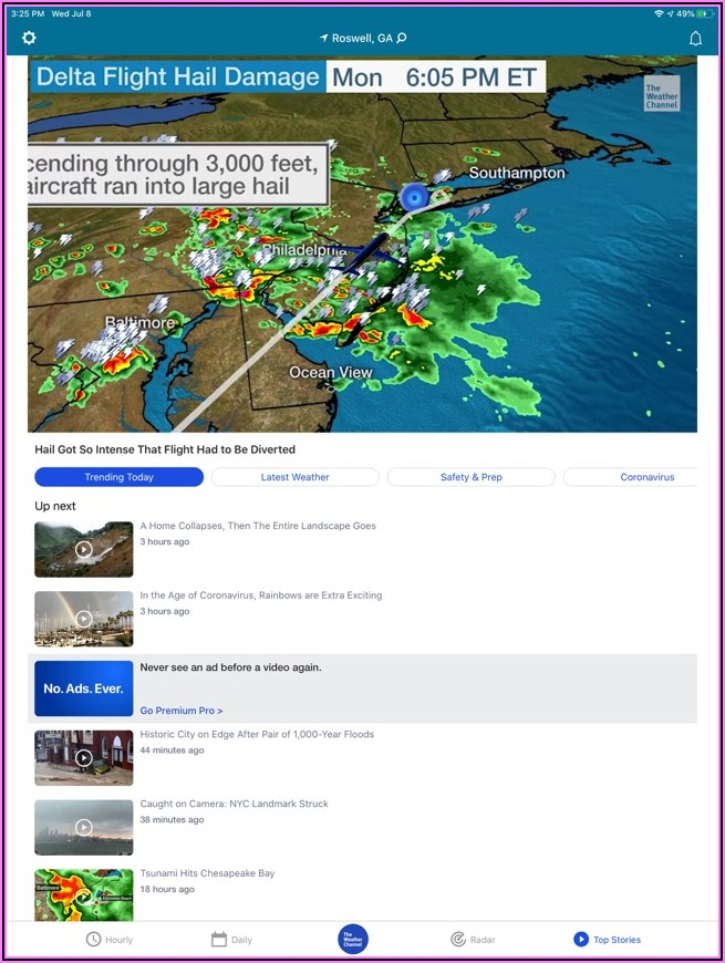 Weather Channel Radar Map Not Working 2019