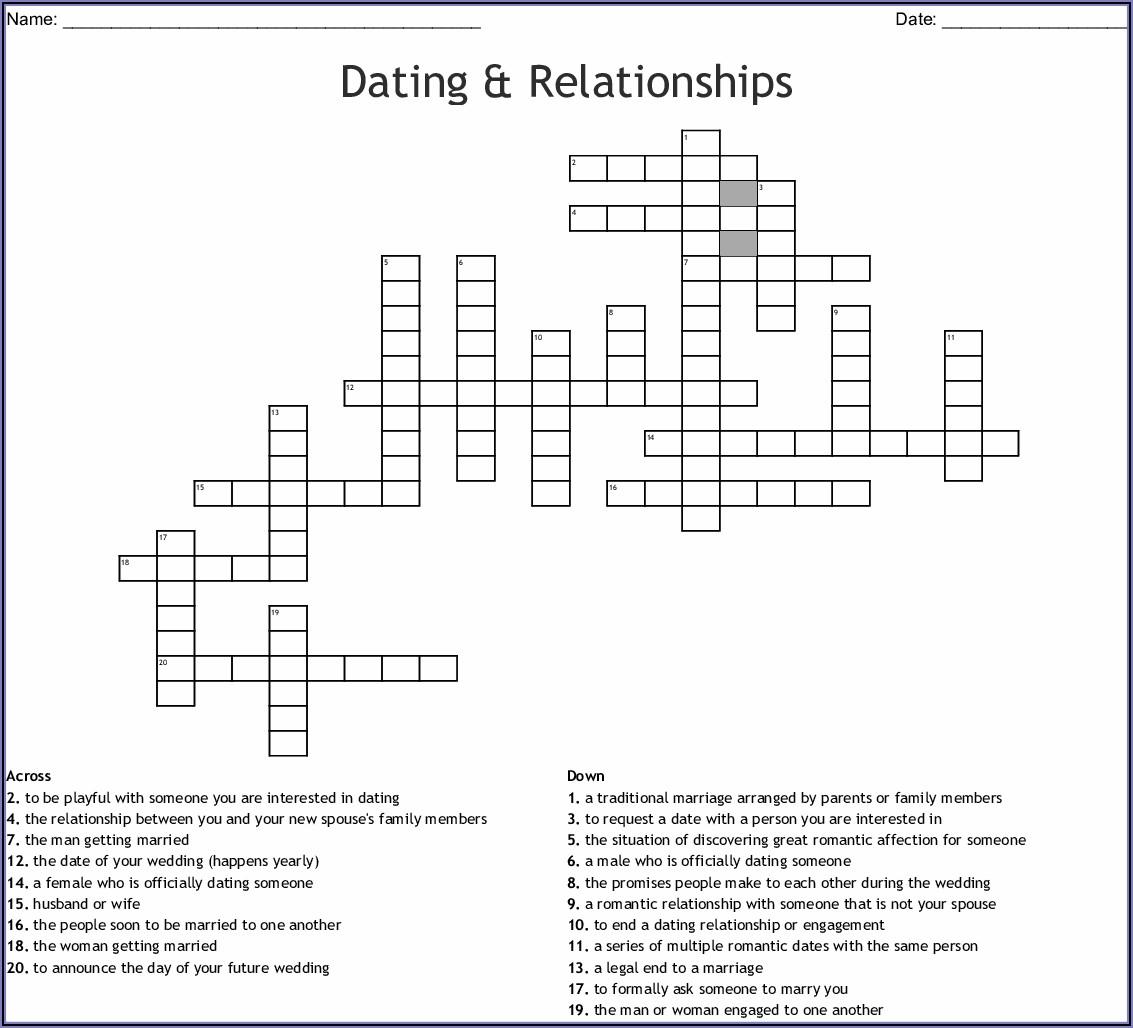 Wedding Announcement Crossword Clue
