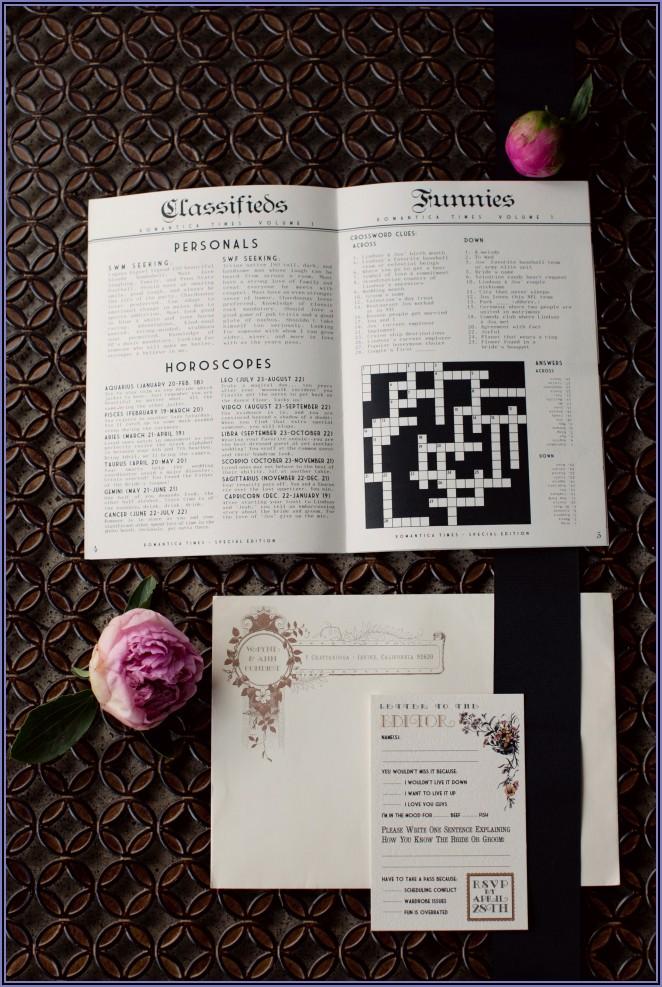 Wedding Announcement Word Crossword Clue