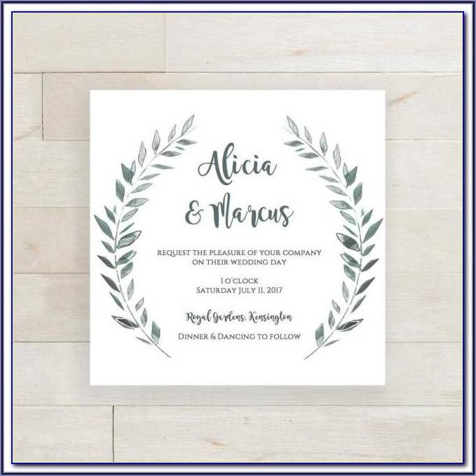Wedding Invite Template Word Free