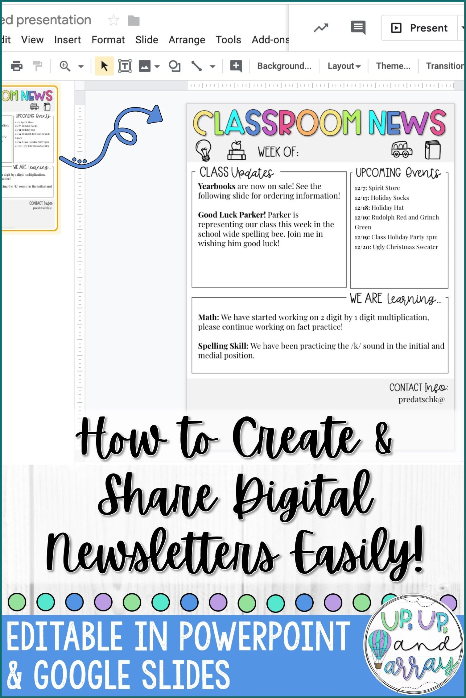 Weekly School Newsletter Template
