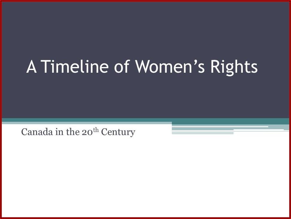 Women's Suffrage Movement Canada Timeline