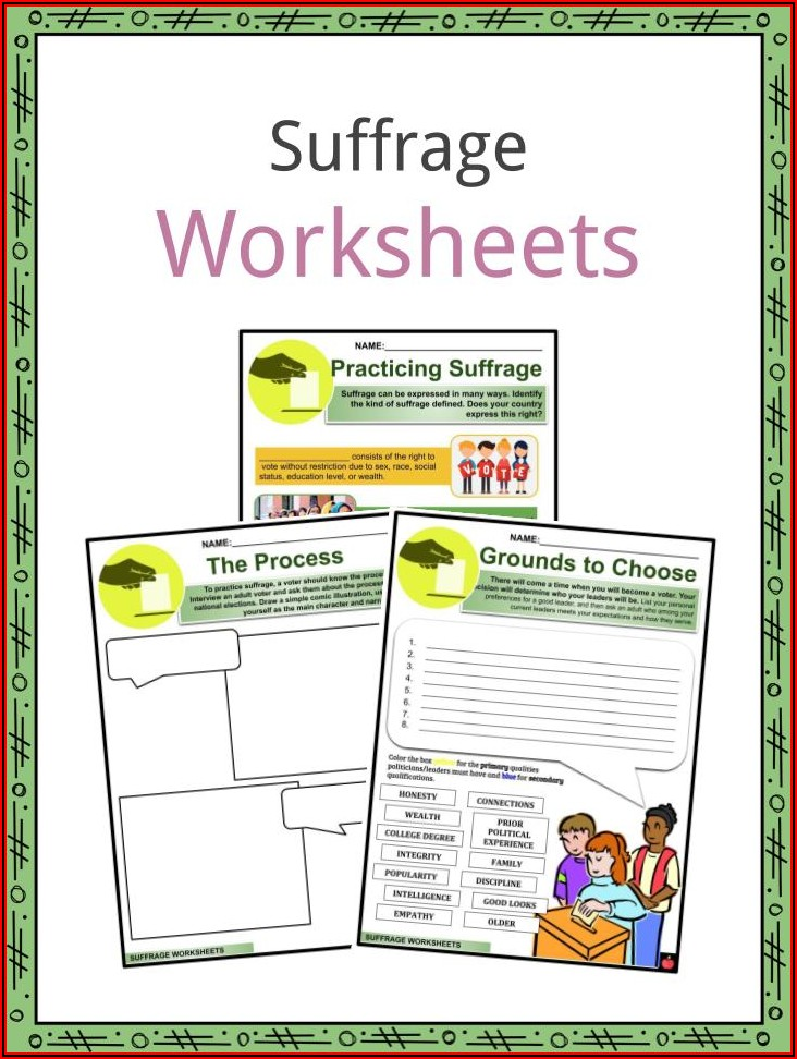 Women's Suffrage Timeline Worksheet
