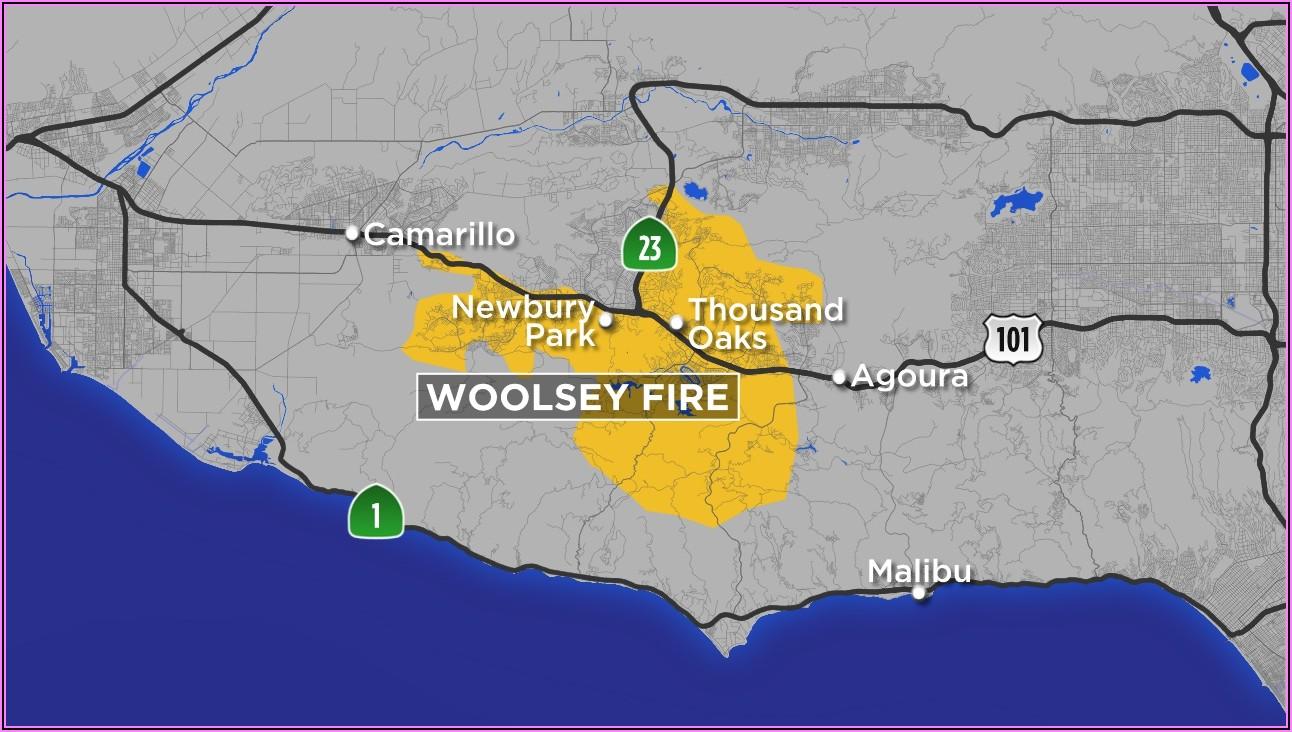 Woolsey Fire Burn Area