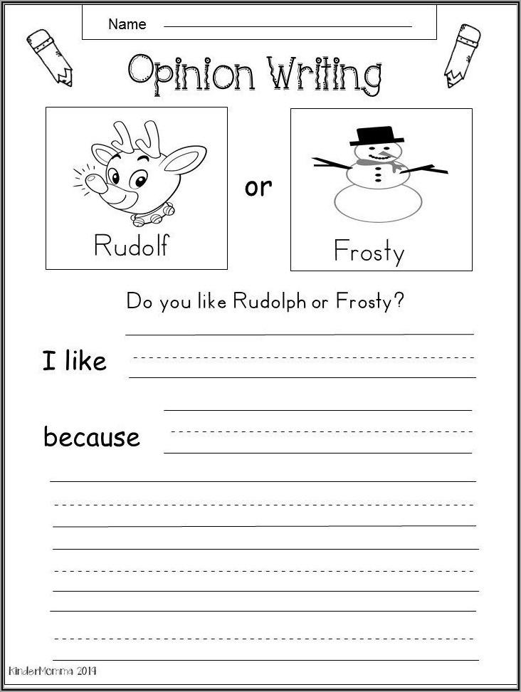 Worksheet For Kindergarten Writing