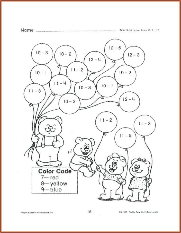 Worksheets For Kindergarten Math Pdf