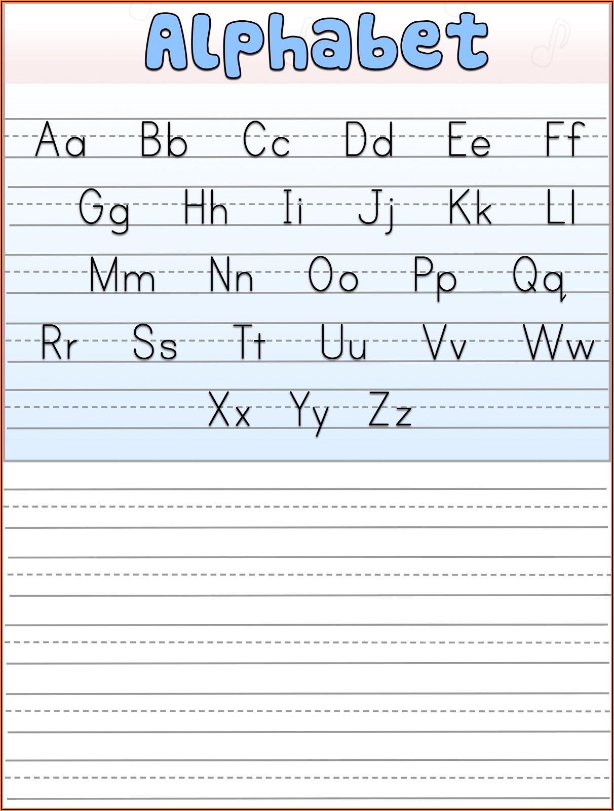 Worksheets For Kindergarten Writing Alphabet