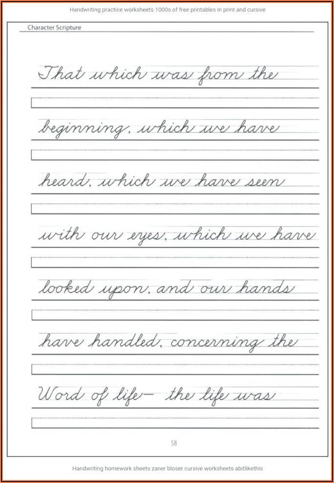 Writing Worksheets For Kindergarten Free
