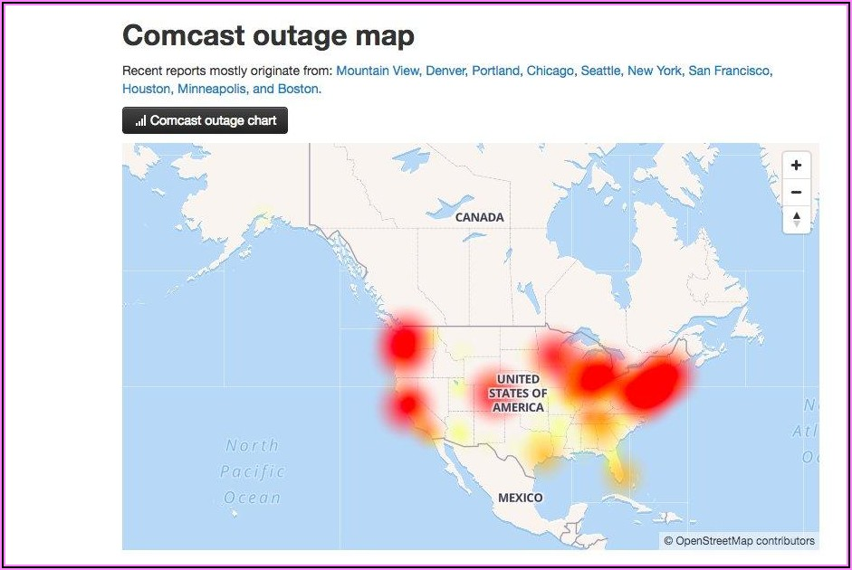 Xfinity Internet Outage Map Seattle