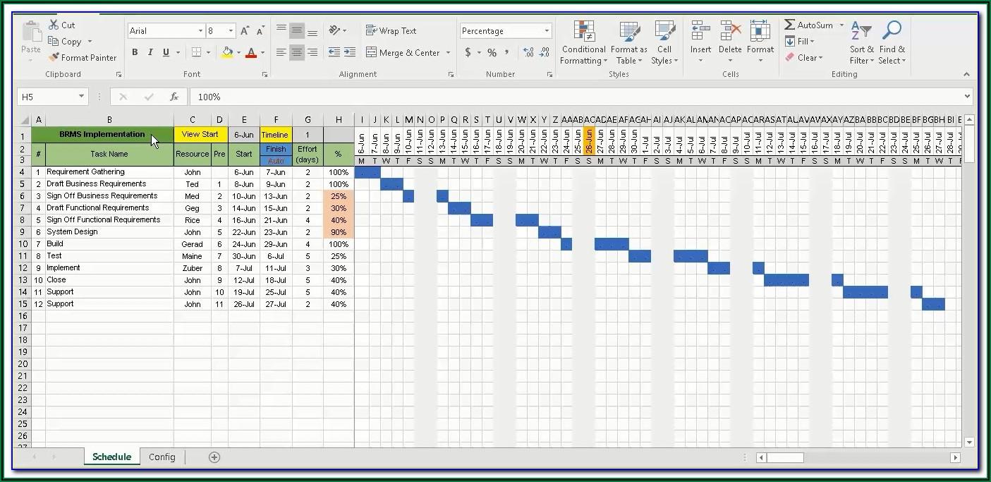 Xls Gantt Chart Template