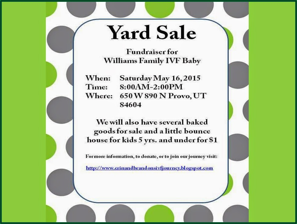 Yard Sale Ad Examples