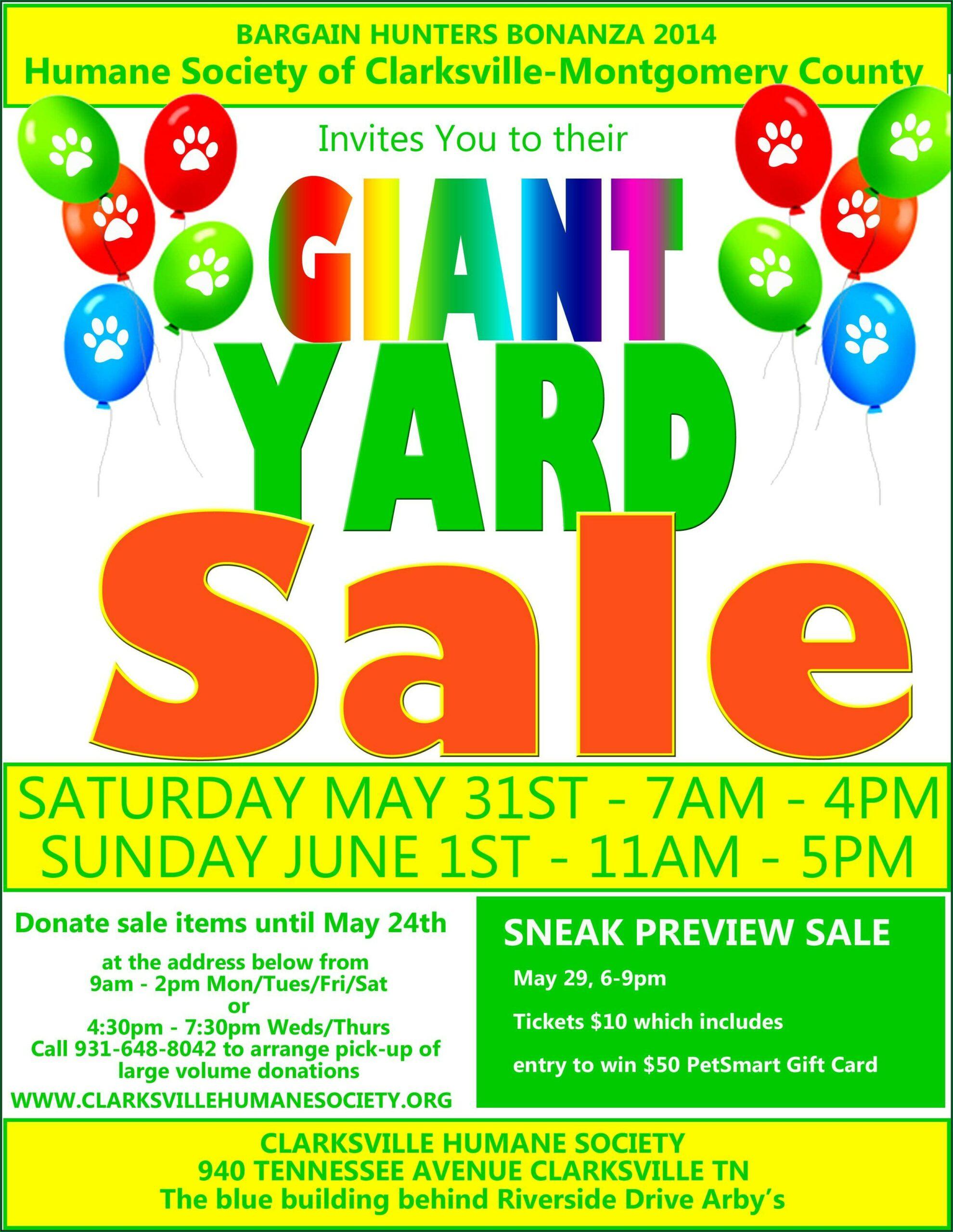 Yard Sale Flyer Samples