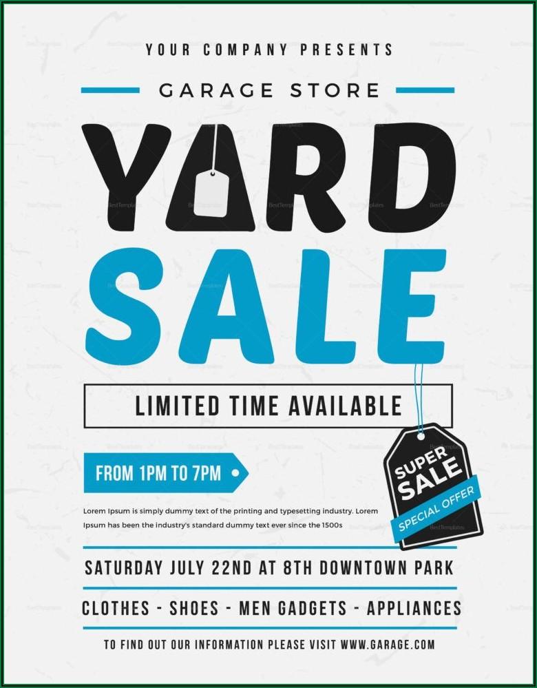 Yard Sale Flyer Template Microsoft Word