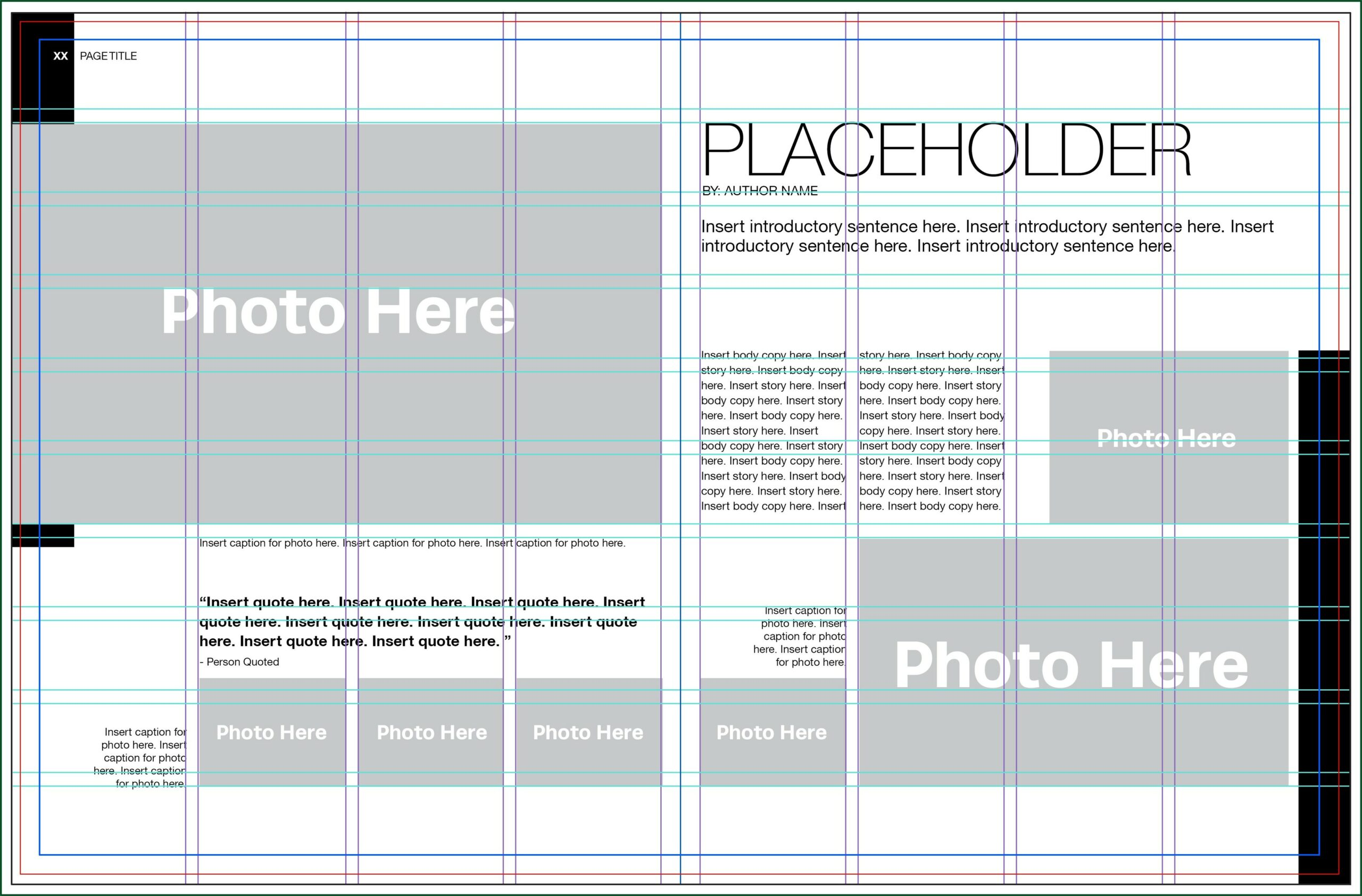 Yearbook Template Pages