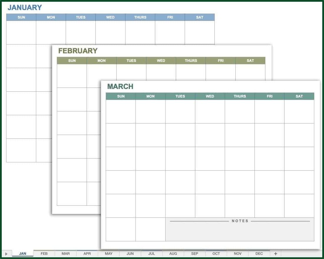 Yearly Birthday Calendar Template Free