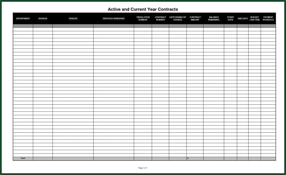 Yearly Budget Report Template
