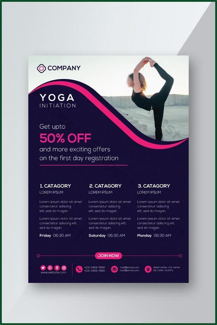 Yoga Flyer Template Free