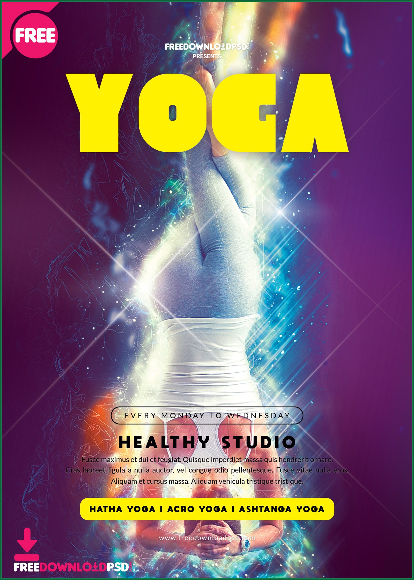 Yoga Flyer Template Word Free