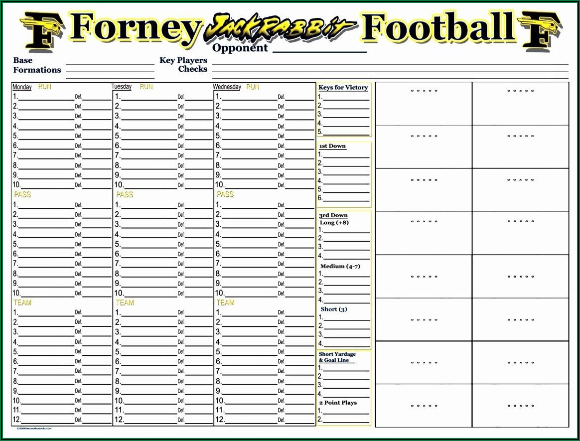 Youth Football Practice Plans Templates