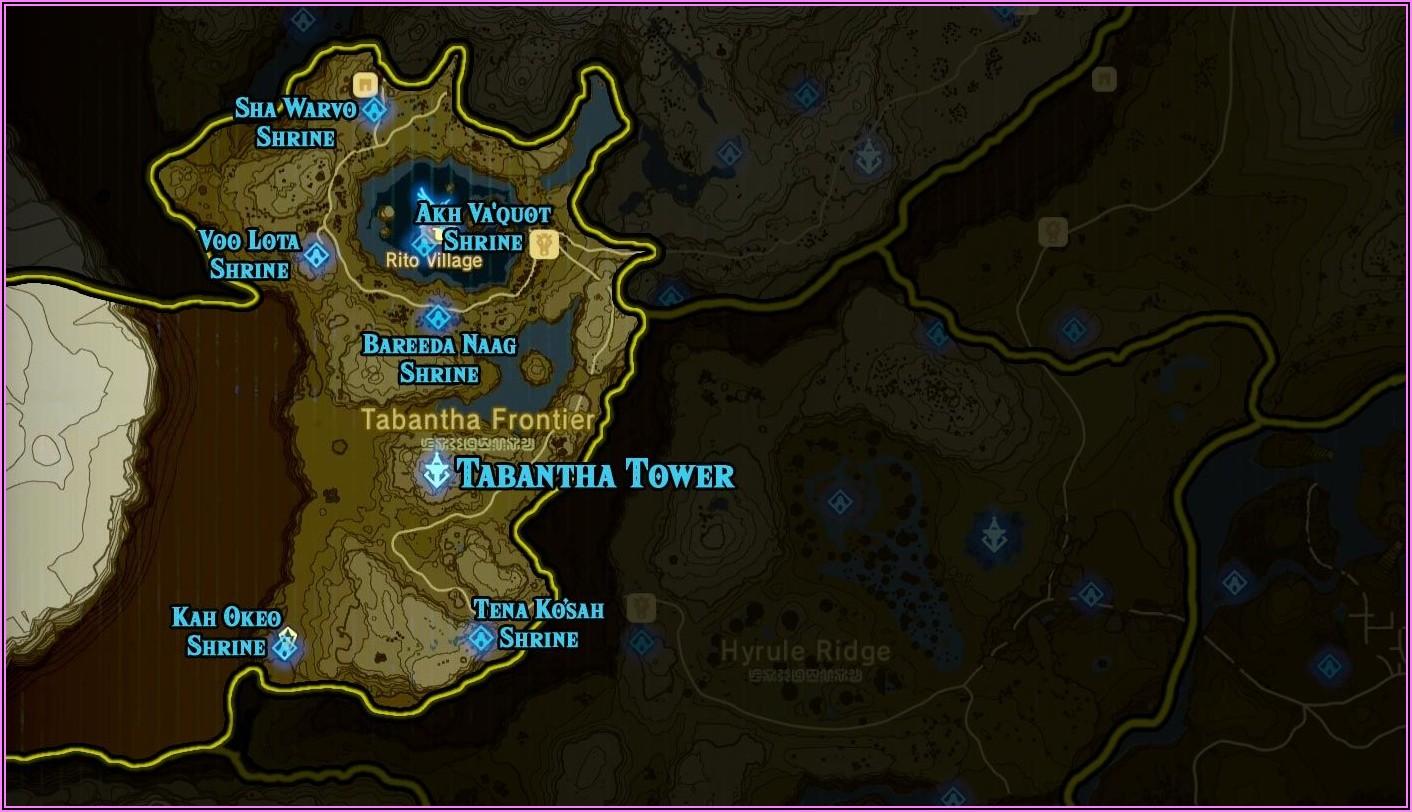 Zelda Botw Shrine Map Hd