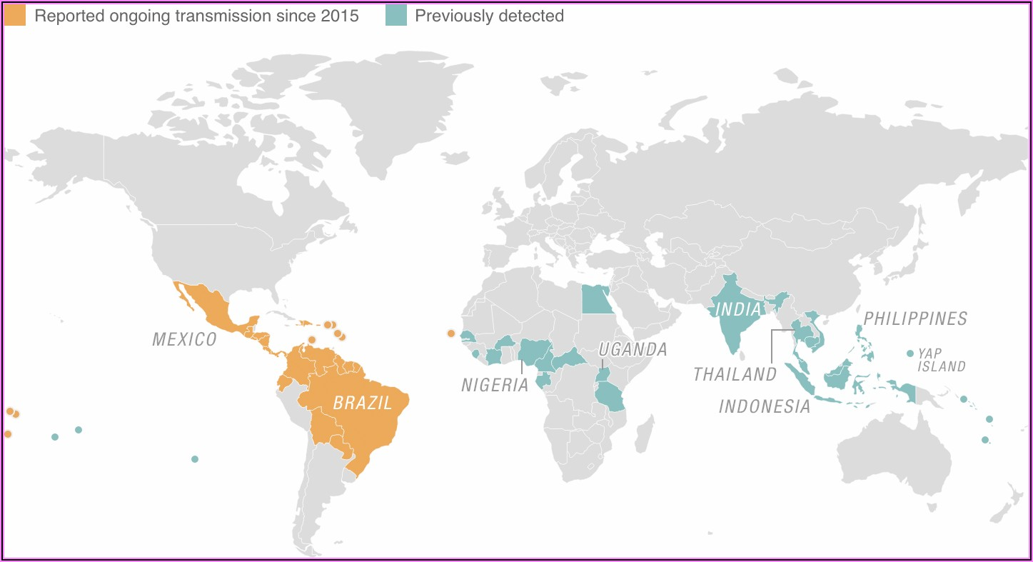 Zika Virus Map Cdc 2020