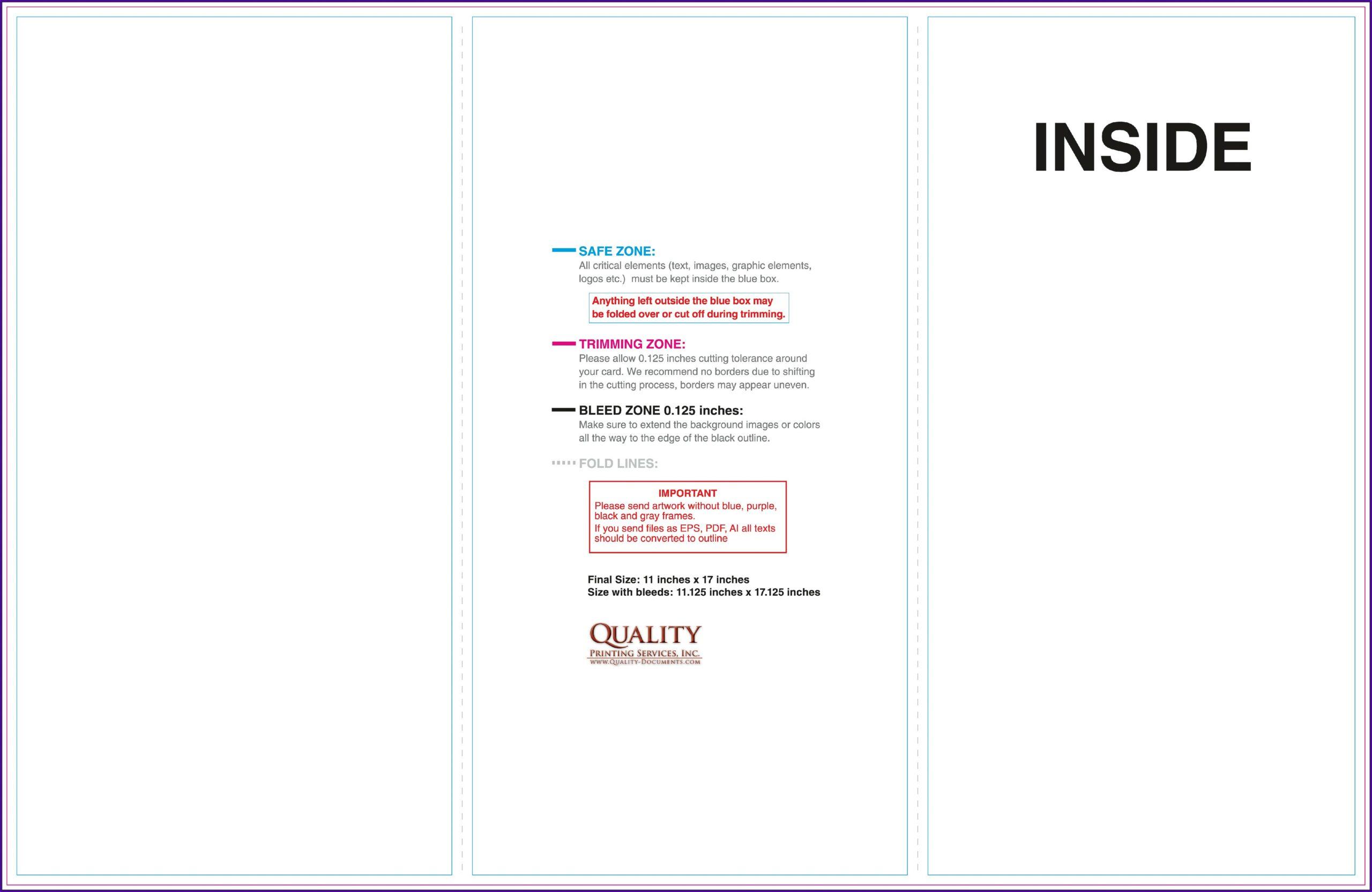 11x17 Brochure Template Microsoft Word
