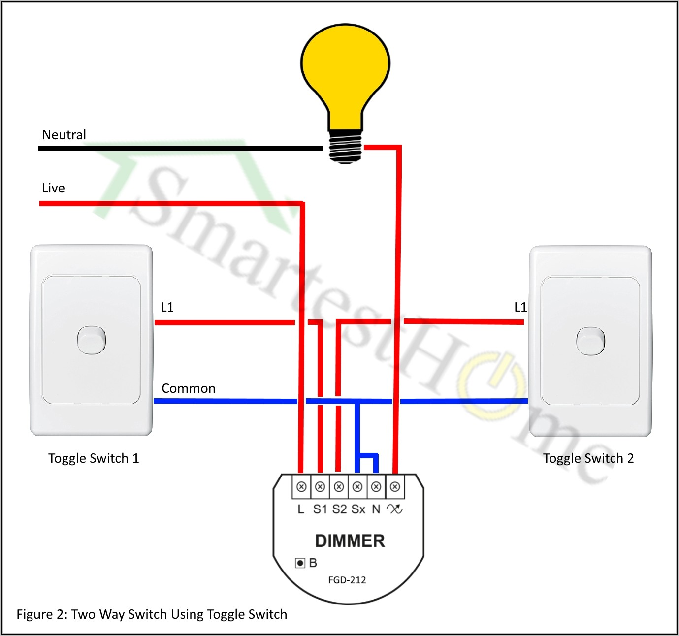 2 Way Light Switch Wiring Diagram Australia
