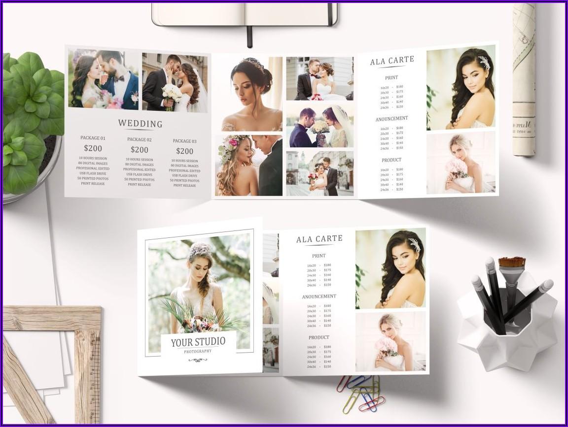 3 Fold Square Brochure Mockup Psd