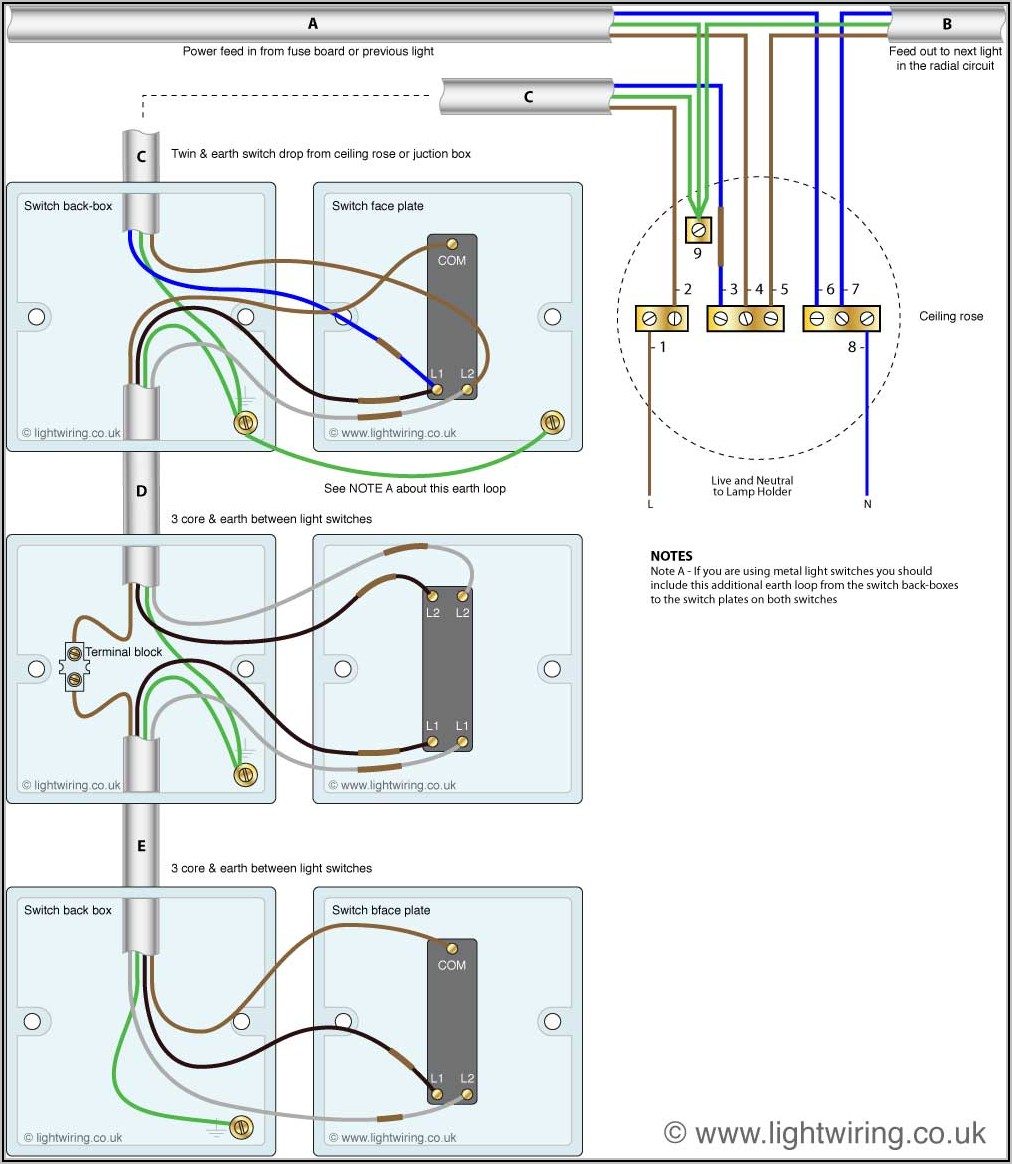 3 Way Light Switch Diagram Uk