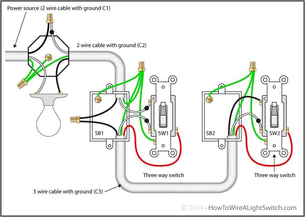 3 Way Light Switch Wiring Diagram 1 Light