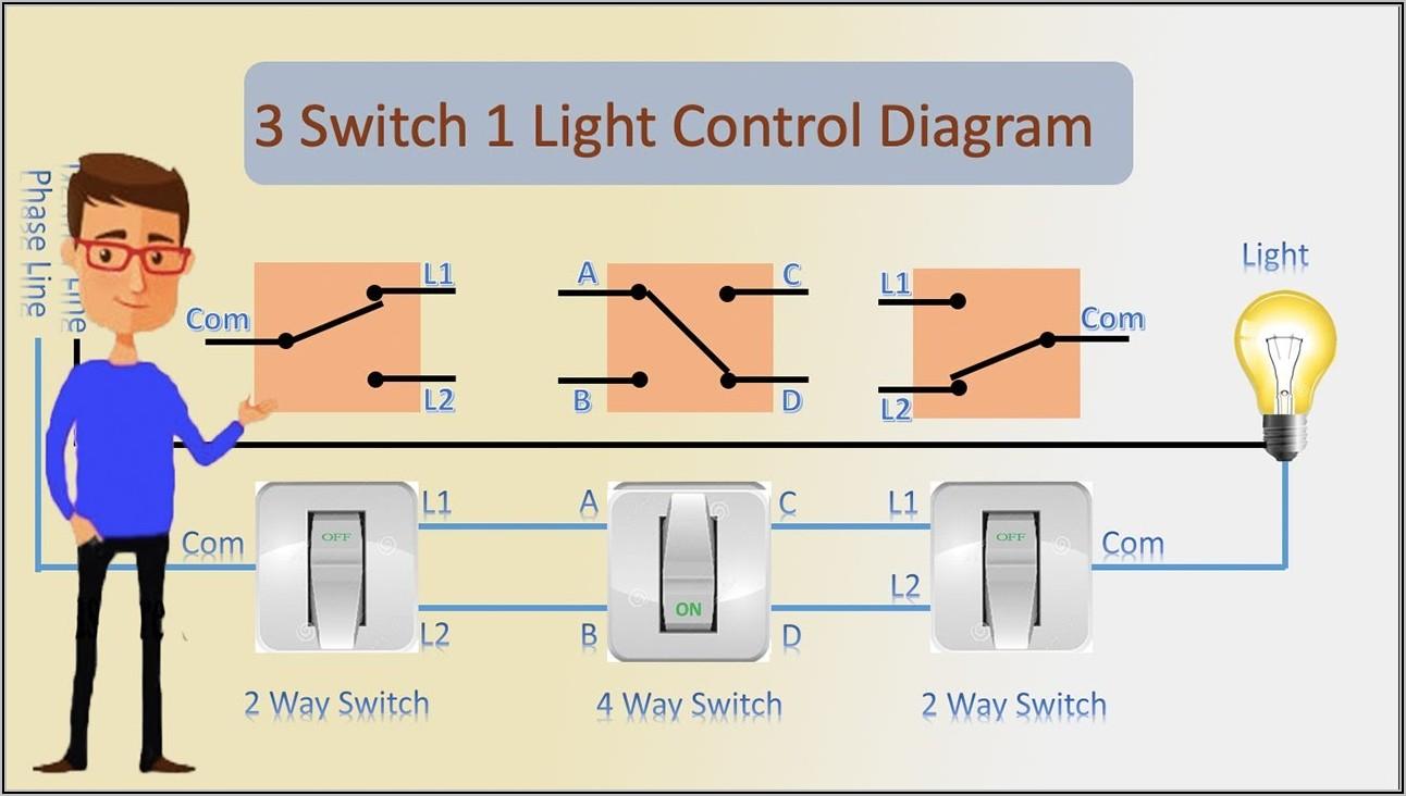 3 Way Switch Diagram 1 Light