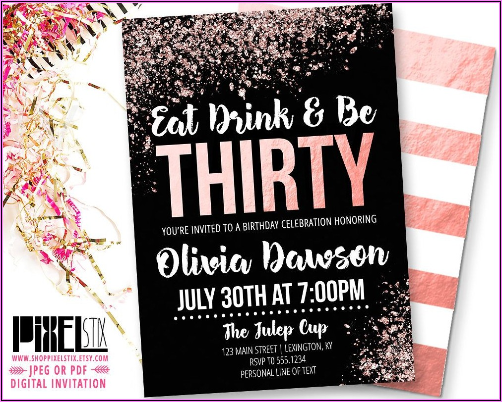 30th Birthday Invite Ideas For Her