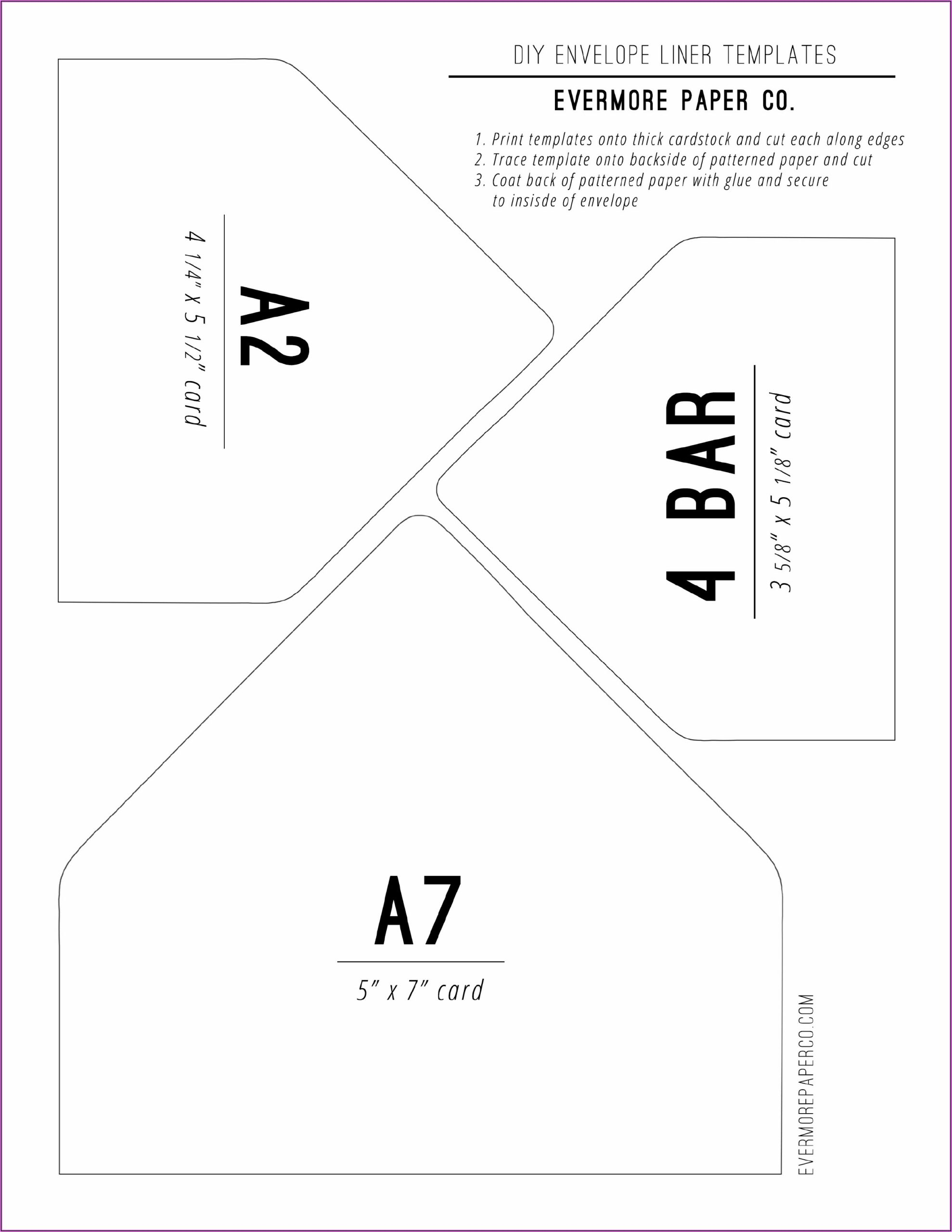 4 Bar Envelope Template