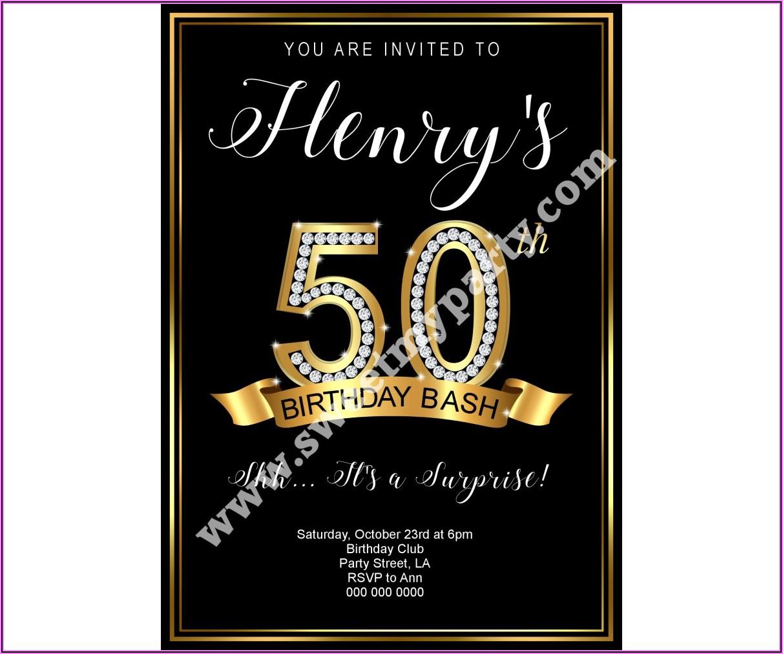 40th Surprise Birthday Invitations