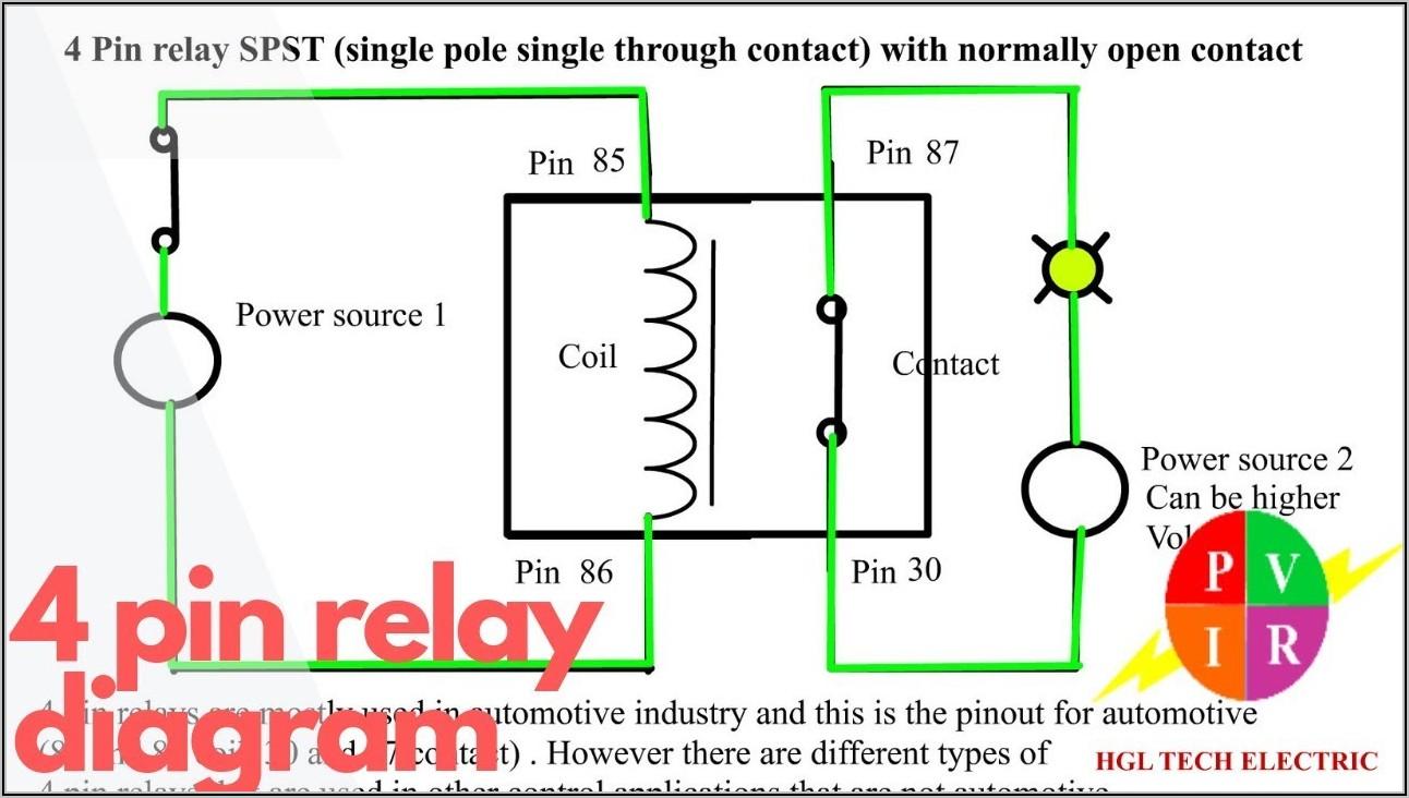 5 Pin Automotive Relay Wiring Diagram