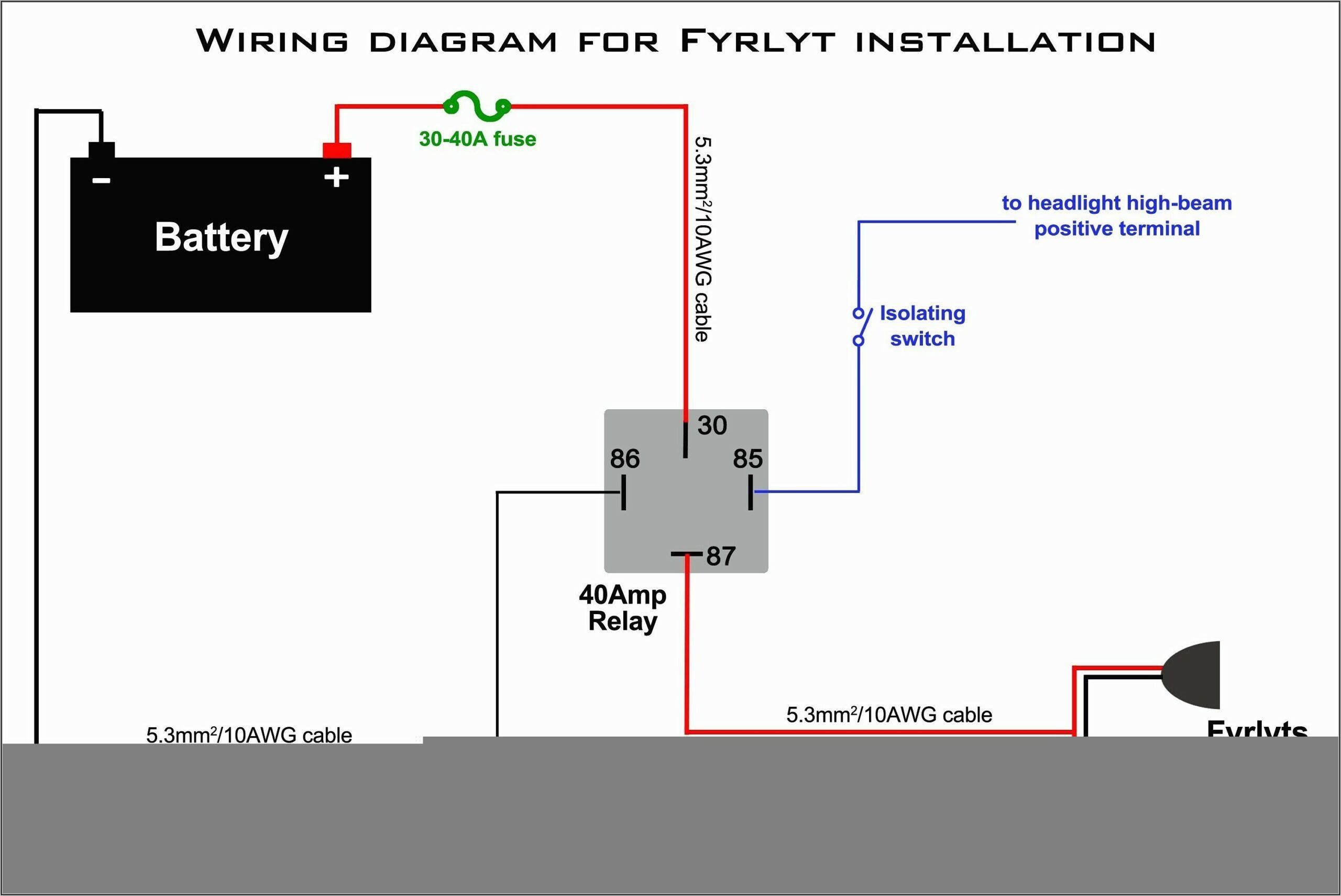 5 Pin Relay Connection Diagram