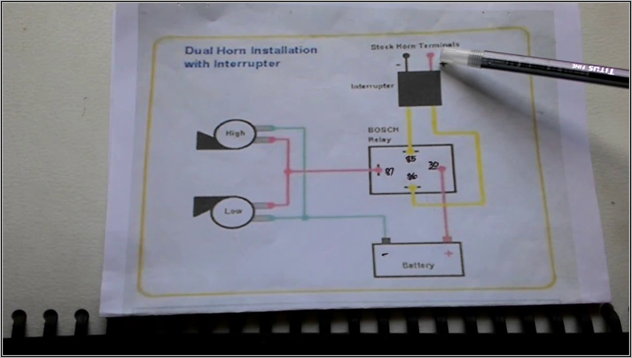 5 Pin Relay Diagram For Horn