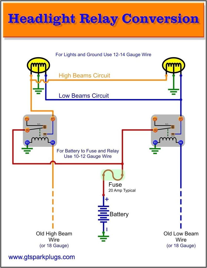5 Pin Relay Diagram Lights