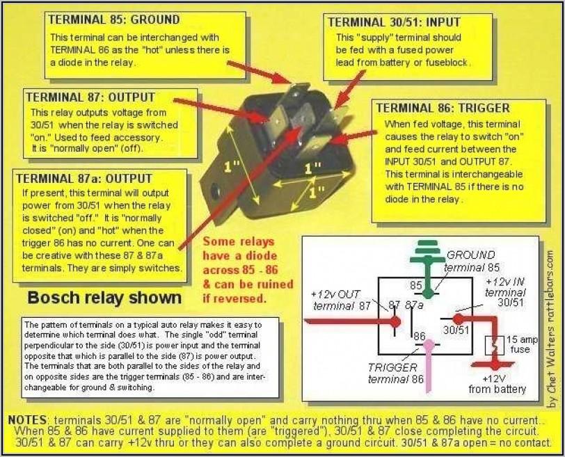 5 Pin Relay Wiring Diagram 87a