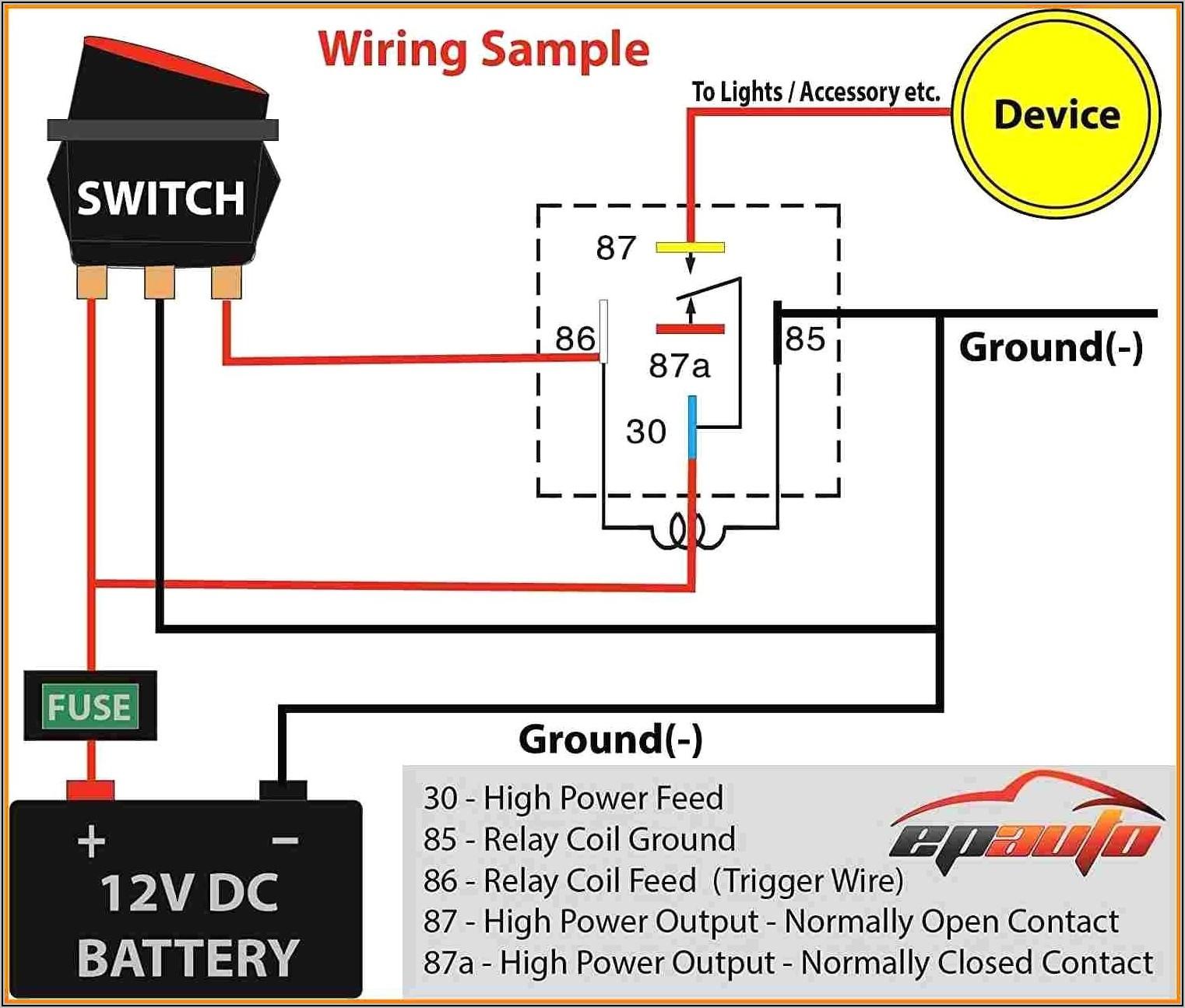 5 Pin Relay Wiring Diagram Fan